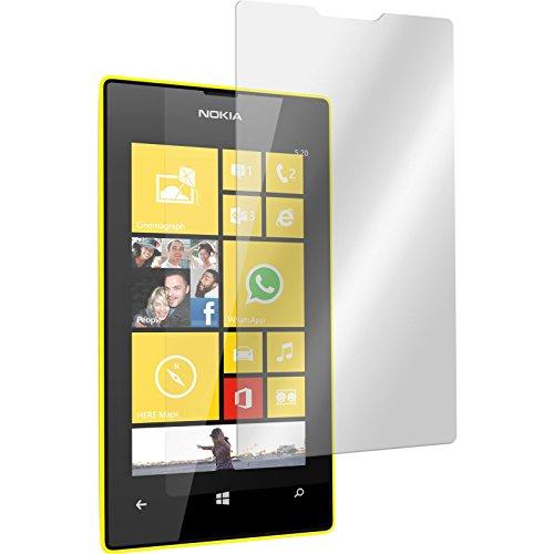 PhoneNatic 2 x Glas-Folie klar kompatibel mit Nokia Lumia 520 - Panzerglas für Nokia Lumia 520