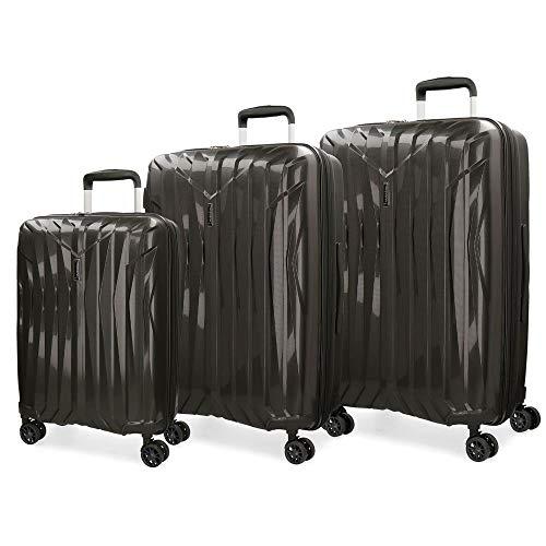 Juego de maletas Movom Fuji Negro rígidas 55-66-77cm