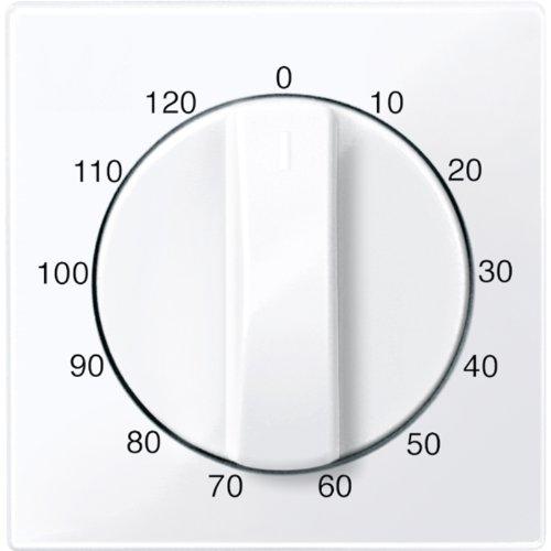 Merten 567525 centrale plaat voor tijdschakelaar gebruik 120 min, actief wit glanzend, systeem M