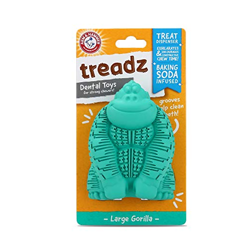 Arm & Hammer Super Treadz Gator & Gorilla Chew Toy for Dogs | Best Dental Dog Chew Toy | Reduces Plaque & Tartar Buildup Without Brushing