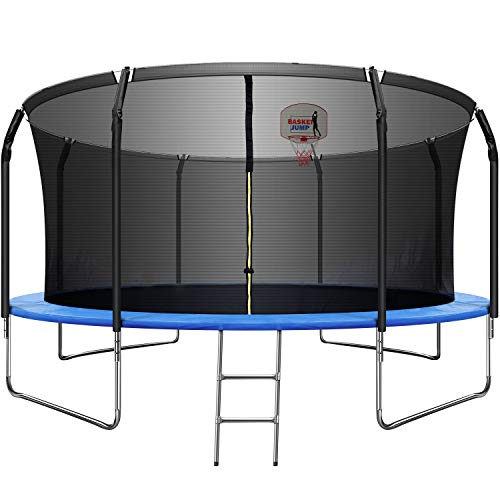 ARCTICSCORPION Trampoline with Basketball Hoop 14 FT Basketball Trampoline Combo for Kids/Adults, Outdoor Backyard Trampolines, 800LBS Capacity 5-6 Kids