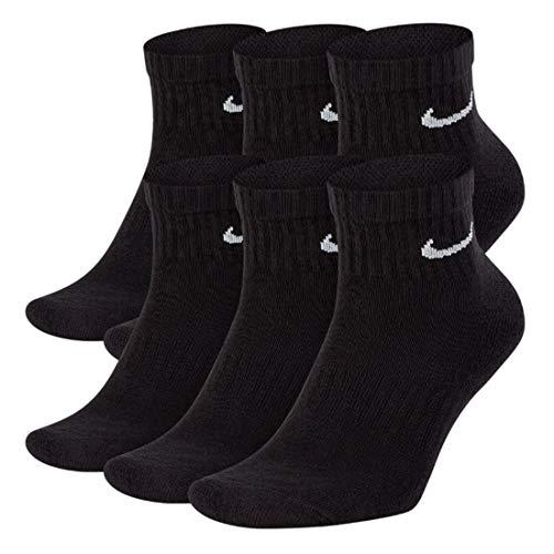 NIKE Everyday Performance Training Socks, Ankle(quarter) Black, Size 8.0