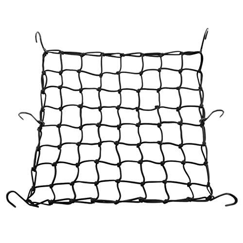 COFIT Stretchable Cargo Net 16quot x 16quot of Super Elastic Cords for Bikes Motorcycles and Scooter Baskets with Six Hooks for Baggage Transportation