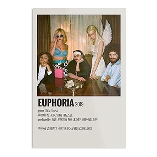 Póster de Euphoria Show – Imprimir un póster tipográfico moderno para niña, diseño de oficina