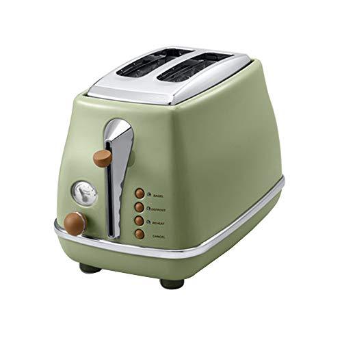 SXSHYUFG Tostadora 2 Rebanadas, Ranuras de Acero Inoxidable,Tostadora Pan Automática,Descongelación y Temperatura Ajustable, Libre de BPA