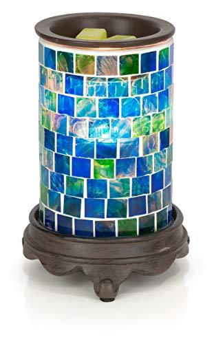 VP Home Mosaic Glass Fragrance Warmer (Ocean Blue)