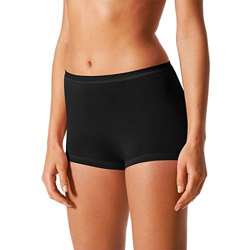 Mey 2er Pack Damen Panty Lights - 89206 - Schwarz - Größe 40 Bodysize - Damen Pants ohne Seitennähte Unterhosen für Damen- UNWAGO Set