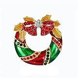 N\C Muñeco de Nieve de Halloween Ramillete de Navidad Accesorios de Disfraces de Diamantes de imitación Broche