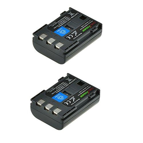 ChiliPower 2-Pack NB-2LH, NB-2L, BP-2L5, BP-2LH (900mAh) Batería para Canon EOS 350D, 400D, Digital Rebel XT, XTi, PowerShot G7, G9 , S30, S40, S45, S50, S60, S70, S80, DC410, DC420, VIXIA HF R10, HF R100, HF R11, Kiss Digital N, Canon Optura 30, 50, 60, 40, 400, 500, Canon Elura 60, 50, 65, 70, 80, 85, 90, 40mc, Canon ZR-200
