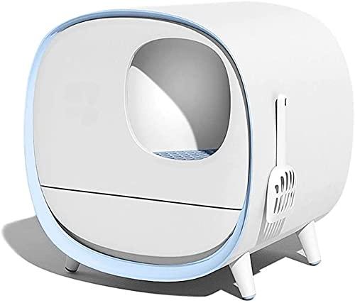 Litière pour chat, Boîte à litière de chat auto-nettoyant automatique, nettoyant électrique entièrement...