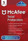 McAfee Total Protection 2021, 5 Dispositivi, 1 Anno, Software Antivirus, Sicurezza Internet, Gestore delle...