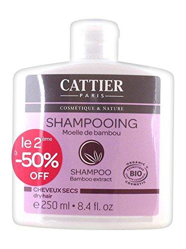 Cattier Shampoing Cheveux Secs Moelle de Bambou Lot de 2 x 250 ml