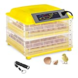 incubato Incubatrice per Uova Professionale Incubatrice per Pulcini IN-112DDI (Plastica, 160 W, 230 V / 50 Hz, Rotazione Automatica, 30-39,5 °C, IPX4)