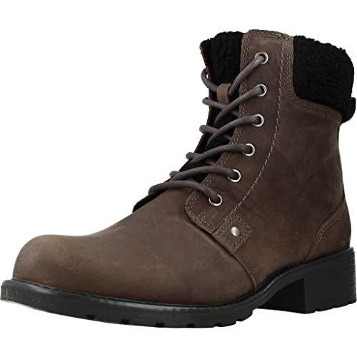 Clarks Damen Orinoco Dusk Biker Boots, Grau (Dark Grey Leather), 40 EU