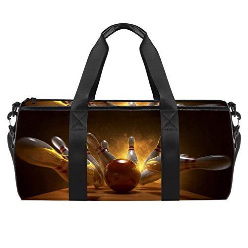 TIZORAX Bowlingbälle Gym Duffle Bag Drum Tote Fitness Reisetasche Dachgepäcktasche