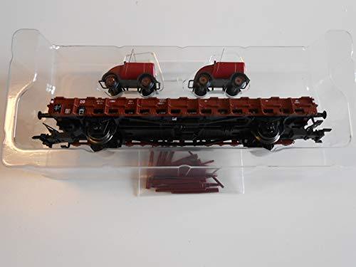 Märklin 46403 DB Camión bajo de 2 ejes cargado con dos drenajes.