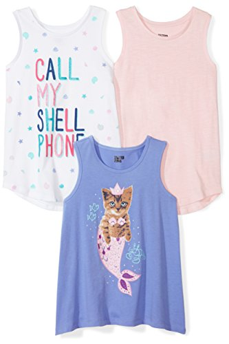 Spotted Zebra 3-Pack Sleeveless Tops tank-top-and-cami-shirts, Mermaid, X-Large (12), 3er