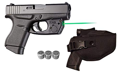 Laser Kit for Glock 42, 43, 43x & 48 Pistols w/Tactical Holster, Touch-Activated ArmaLaser TR5-G Green Laser Sight & 2 Extra Batteries