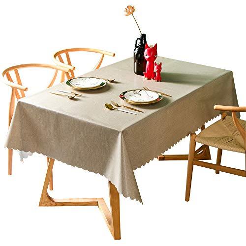 MMHJS wasserdichte Und Ölbeständige Tischdecke PVC Einfarbige Couchtischmatte, Geeignet Für Esszimmer, Besprechungsraum, Wohnzimmer, Garten