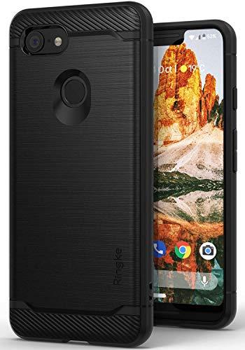 Ringke Onyx Entwickelt für Google Pixel 3 XL Hülle, Silikon TPU Stoßfest Dünn Kratzfest Pixel 3XL Panzerhülle - Schwarz Black