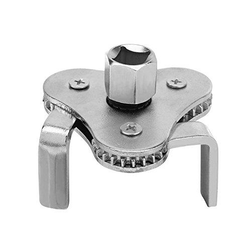 outingStarcase # 45 Filtro Acero de la máquina de Combustible de Aceite Desmontaje Llave Plana de mandíbula Aceite de cuadrícula Herramienta con AA 2/1 a 3/8 Adaptador Llave de Filtro Ajustable