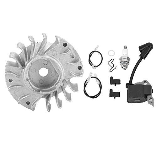 Qinlorgo Kit de bujía, accesorio de motosierra, bobina de encendido para volante de inercia, piezas de repuesto convenientes para ramas de bosques de tronco Stihl MS180 170018017.