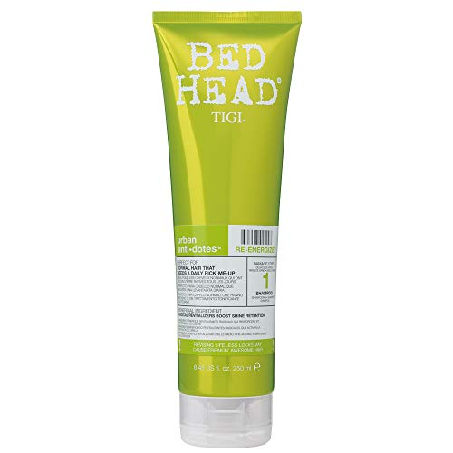 TIGI Bed Head Urban Anti Dotes Re-Energize - Champú de Uso Diario para Cabello Normal 250 ml