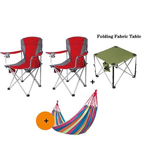 HUALI Sillas de Playa Silla de Camping portátil, con portavasos Pesca Ligera Salón Patio al Aire Libre Robusto Soporte 250 Libras Verde-C LIULI (Color : E)