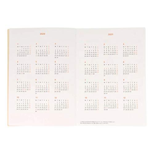 【デルフォニックス手帳2020-2021年版/2020年3月始まり】B6リネン麻