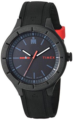 Timex TW5M16800 Ironman Essential Urban Analog 42mm Black/Red Silicone Strap Watch