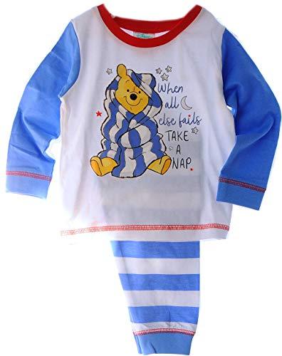 Schlafanzug 62 68 74 80 86 92 Winnie Pooh Baby Pyjama Set Shirt Hose Disney (9/12-68/74)