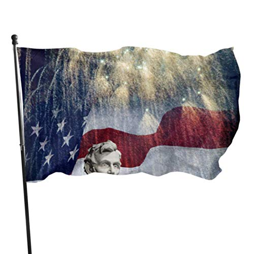 WDDHOME Foto Estatua Abraham Lincoln Lincoln Memorial Bandera Decoración...