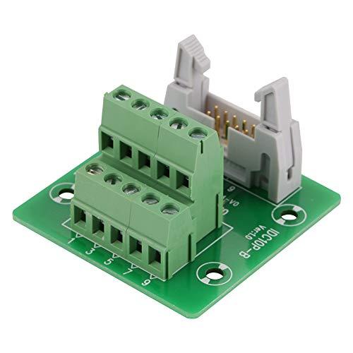 IDC10P 10 Pines Conector de Bloque de Terminales de Placa de Conexión de Encabezado Macho, Interfaz PLC portadora de PCB con Soporte