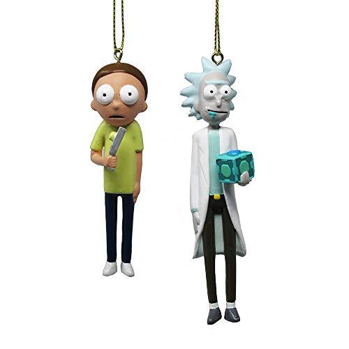 Kurt Adler Rick & Morty Figure Ornament Set 2 Standard