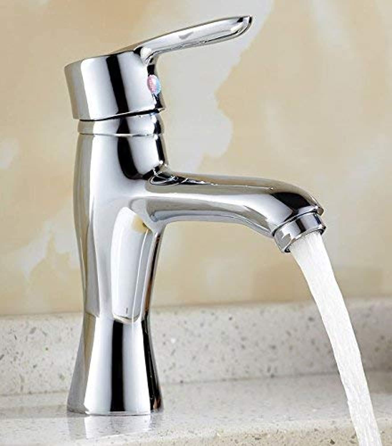 Oudan Mixer Water Tap Wash your face copper Hot and cold bathroom chrome