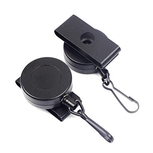 DealMux, mini mosquetón de llave telescópico liviano y portátil con cable de acero: hebilla de cinturón práctica y segura, herramienta antipérdida