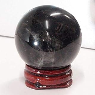モリオン 丸玉 水晶玉 球体 丸玉 玉 球 原石 Ball 大玉 Morion 黒水晶 魔除け 置物 浄化 天然石【40mm玉】 天然石 パワーストーン a18453