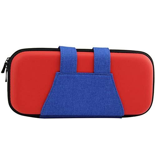 Case Gamepad Portable pour Nin Commutateur PU Transport De Jeu Sac De Rangement Hard Shell Housse pour Nitendo Commutateur NS Accessoires pour Console,Rouge