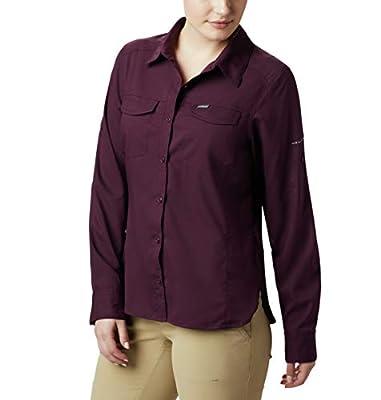 Columbia Women's Silver Ridge Lite Long Sleeve Shirt, Black Cherry, Small