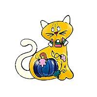 ブローチ ジュエリーかわいい猫のブローチとピン子供のための女性ファッションエナメル合金パンプキンブローチコートドレスピンハロウィンギフト