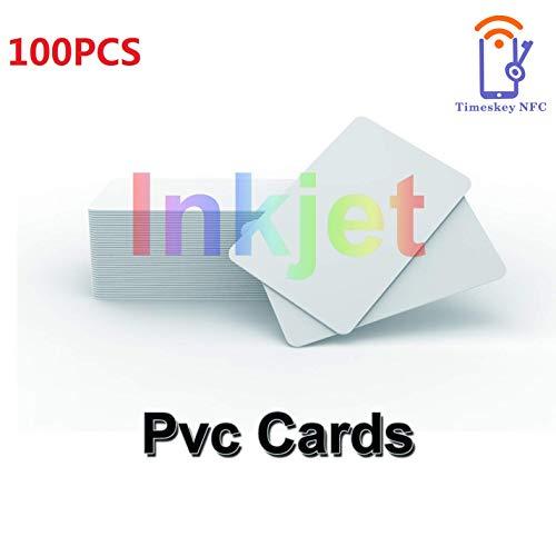 Inkjet Printable PVC ID Cards Kompatibel Mit Epson und Canon Inkjet Drucker, CR80 30 MIL Dicke Wasserdichtes Material, Beide Seiten Können Bedruckt Werden (100 Stück) – TimesKey