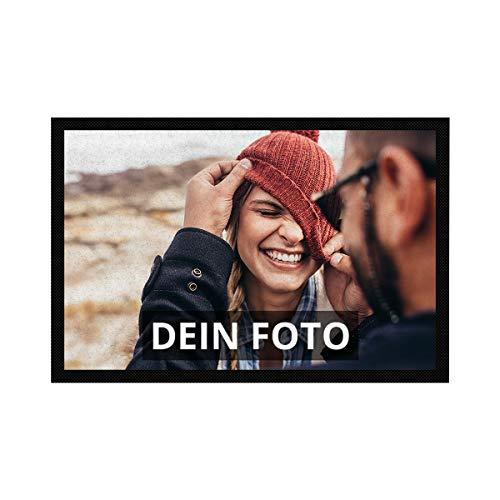 PhotoFancy Fussmatte mit Foto personalisiert - Fußmatte mit Foto Bedrucken (60 x 40 cm)