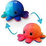 TeeTurtle | The Original Reversible Octopus Plushie | Patented Design | Sunset and Mermaid | Show your mood without saying a word!