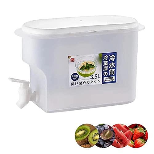 Dispensador de agua potable para botellas de frigorífico, hervidor de agua para frigorífico de 3,5 l con grifo, jarra de agua para frigorífico para hacer tés y zumos sin Bpa