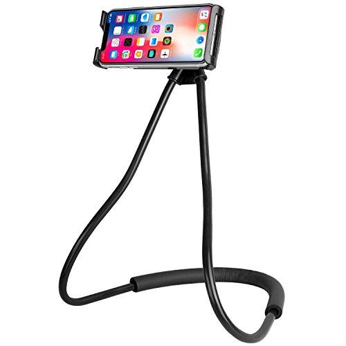 ANGGO Supporto del telefono,Supporto da Universale Smartphone, con rotazione a 360º,supporto rotante flessibile da appendere al collo, porta telefono per iPhone,Samsung