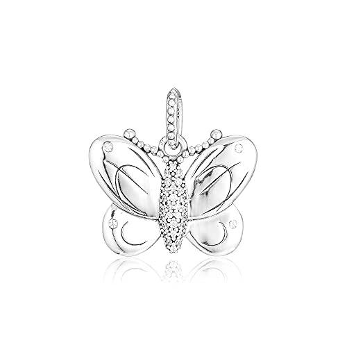 LIIHVYI Pandora Charms para Mujeres Cuentas Plata De Ley 925 Joyería Colgante De Mariposa Decorativa Compatible con Pulseras Europeos Collars
