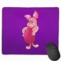 ピグレットが怒りました マウスパッド 滑り止めゴム底 付着力が強い 耐久性が良 おしゃれ 高級感 ゲーミング オフィス最適 30x25x0.3cm