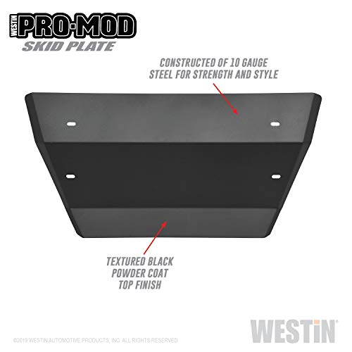 Westin 58-71215 Pro-Mod Skid Plate Textured Black Steel Pro-Mod Skid Plate