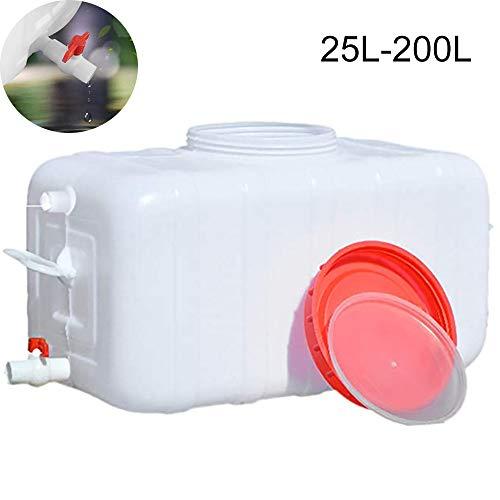 JB-ST Außenwassertank Mit Wasserhahn Tragbarer Dicker Kunststoff-Wasserspeicherbehälter Home-Lagereimer Säure-Alkali-beständiges Chemisches Fass, -20 ° C Bis + 70 ° C.(Size:200L)