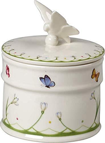 Villeroy und Boch Colourful Spring Dose, 14 cm, Porzellan, Weiß/Bunt